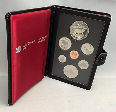 1985 Canada Double Dollar Proof Set 9 coins with Silver National Park