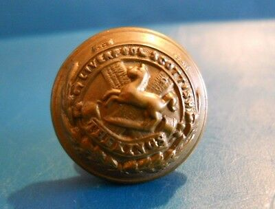 Ww1 Era Or's Gm Button.  Liverpool Scottish Bn - Kings Regt