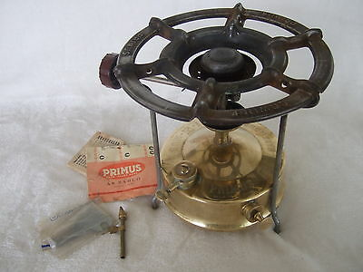 Classic Primus No.5 solid brass camp stove – AB BAHCO (1540) Sweden- Works