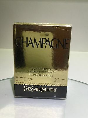 NEW YSL Champagne Yvresse refillable Perfume Edt DISCONTINUED 20ml spray bottle