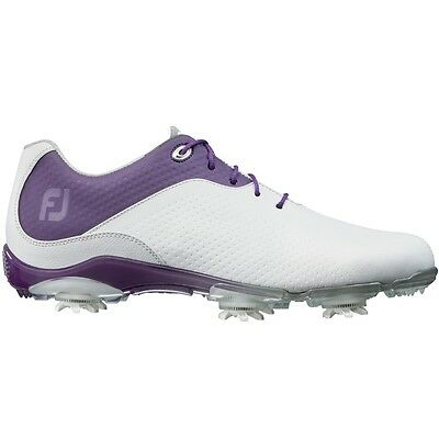 Brand New In Box FootJoy DNA White and Purple Women's Golf Shoe 94822