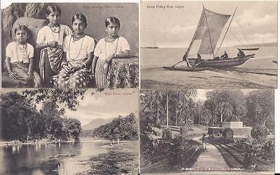 Ceylon 8 real photo pc , all unused, ca. 1900-20
