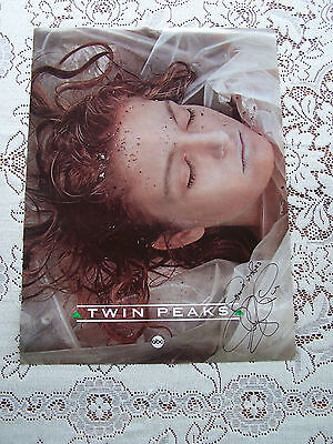 Twin Peaks ABC Laura Palmer SIGNED Poster Promotional Original RARE Lynch
