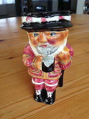 Vintage Beefeater  Stafordshire Hand Painted Toby Jug