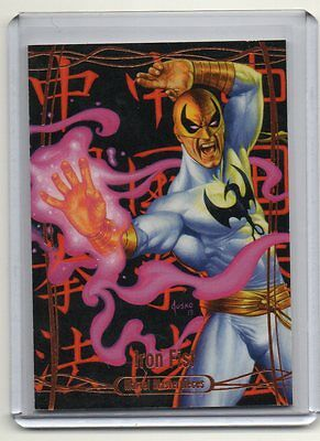 2015 2016 Upper Deck Skybox Marvel Masterpieces Iron Fist Legendary Orange 18/99