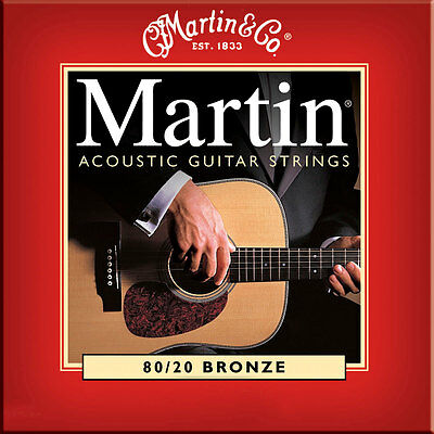 Martin M140 80/20 Bronze acoustic guitar strings, Light .012-.054