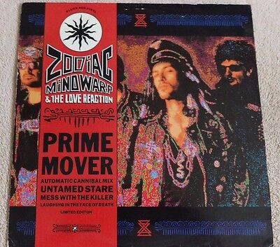 "Zodiac Mindwarp & The Love Reaction Prime Mover 12"" 4 Track Ep Record Red Vinyl"