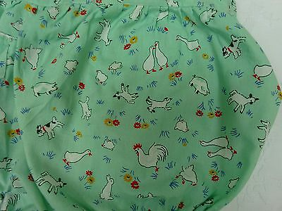 Vintage Baby Novelty Print Fabric Nappy Pants Early Mid 1900's Farm Yard Ducks