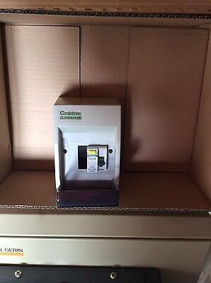 Crabtree 1 way consumer unit with 63 amp rccb suitable for showers choose mcbs