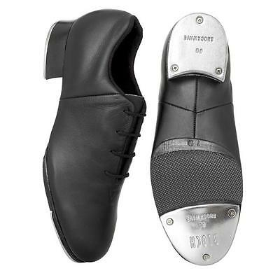 Dance Shoes Tap Black Split Sole Sizes 1-5 Bloch Tie up Slip on Great for Class