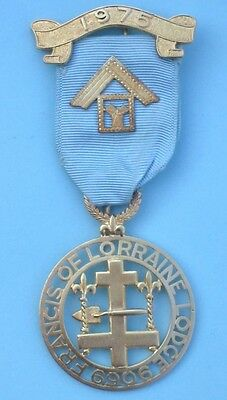 Masonic Silver Past Masters Jewel Francis of Lorraine Lodge No 6906 1975