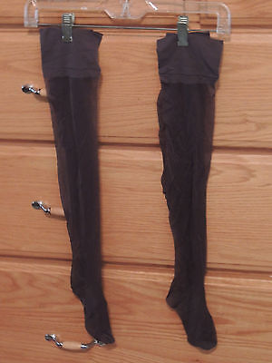 Women's Stockings in Barely Black 2 Pair in same size, length and color
