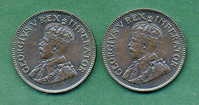 2 X 1936 South Africa Farthings.