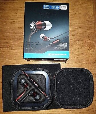 Sennheiser M2IEi Momentum In Ear Headphones for Android New Black Red