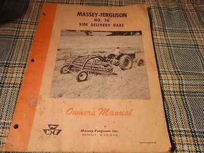 Manual For Massey Ferguson No. 36 Side Delivery Rake (1959)