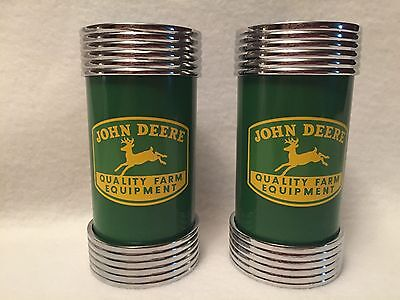 John Deere Farm Equipment Salt and Pepper Shakers Metal Caps/ Ends