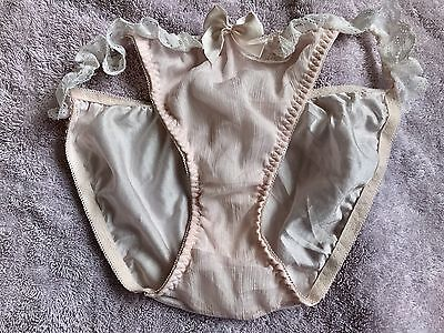 Vintage Japanese Brief Panties Nylon~polyester Knickers Panty Color Peach