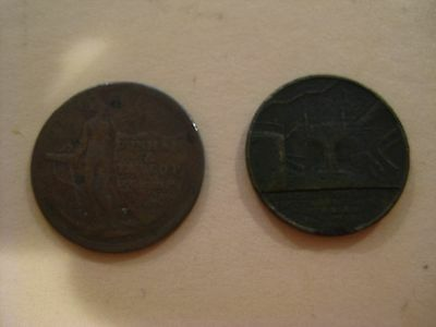 Two Old London Silversmith Tokens   LOT  JT-9