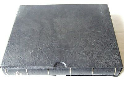 Lighthouse Black Luxury Padded 4 Ring Stamp Album & Vario Plus Stockleaves