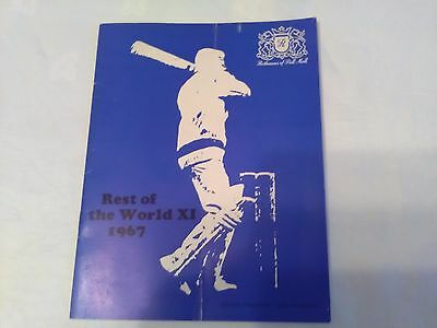 Cricket Programme Rest of the World XI 1967