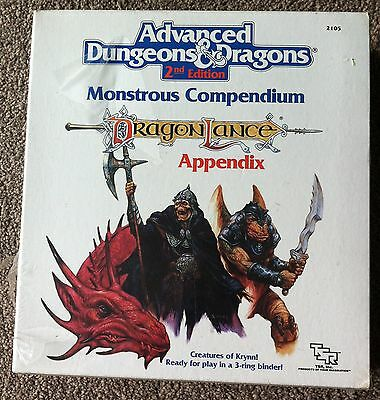 Dragonlance Monstrous Compendium Shrinkwrapped New and Sealed