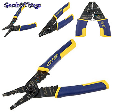 Multi-Tool Wire Stripper Crimper Cutter Induction Hardened 7'' Bolts Pliers Cuts