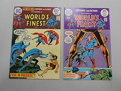 World's Finest Comics lot of 2! #'s 222 and 229! VF8.0+! Bronze age DC beauties!
