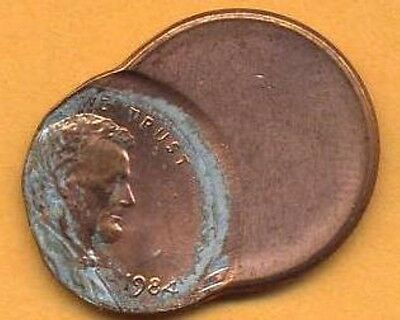 Very Nice 1984 Lincoln Memorial Penny Which Is Off Struck ~ 70 %.