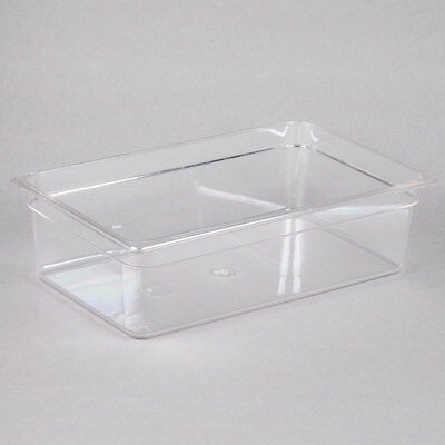 """(6-Pack) Full Size 6"""" Deep 20.6 Quart NSF Clear Plastic Polycarbonate Food Pans"""