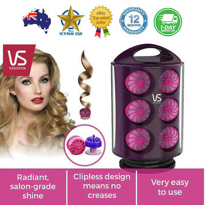 Heated Hair Rollers Curlers Magic Styling DIY Curlers Tool Spiral VS Sassoon