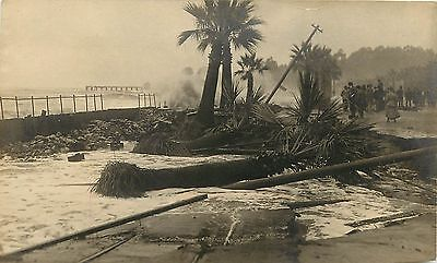 1910s RPPC Santa Barbara CA Flood Washed Out Street Car Track by Potter Hotel