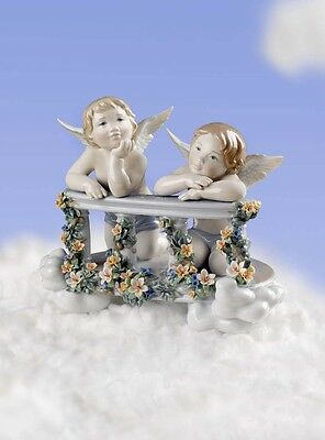 "Lladro 8590 ""CELESTIAL BALCONY""1008590 Angels Limited Edition New"