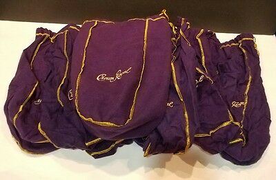 LARGE LOT OF 10 Crown Royal Bags Crafting, Party Theme, Crafts Lot B
