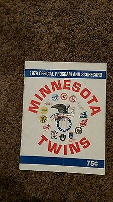 1979 Minnesota Twins Official team program.