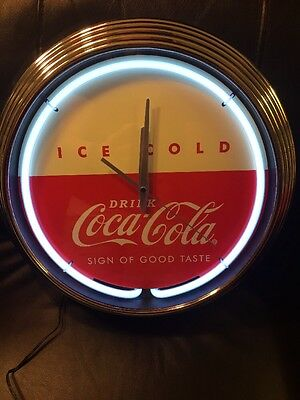 NEW Coca-Cola Neon Clock 50's Vintage Style LIMITED COLLECTIBLE Coke neon Clock