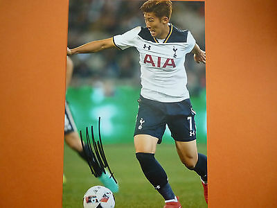 Tottenham Heung Min Son hand signed photo 12x8
