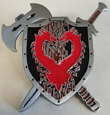 Collector Legion Shield Dungeons and Dragons Medevil Times Axe Sword