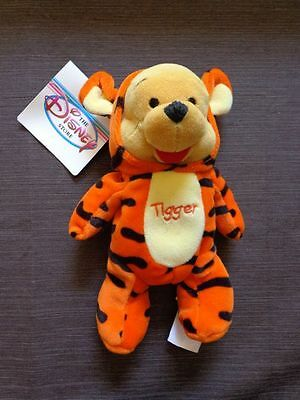 Disney Winnie the Pooh Plush Toy Dressed as Tigger New with Tags