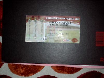 NORTHAMPTON TOWN -v- CHESTERFIELD COMPLETE PLAYERS TICKET 2010/11 TICKET