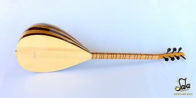 Turkish  Short Neck Mahogany Maple Baglama Saz For Sale Css-123