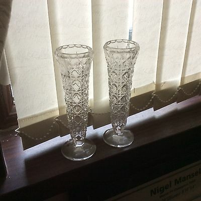 Cut Crystal Matching Vases