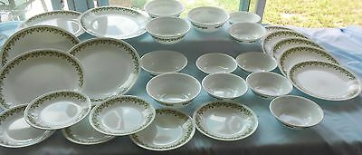 28 Piece Set Corelle Crazy Daisy Spring Blossom Assorted Dishes by Corning