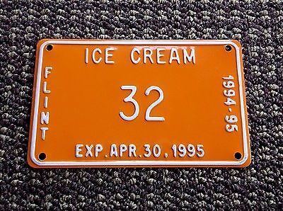 City Of  FLINT  Michigan       ICE CREAM         License Plate