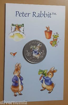 Gibraltar Peter Rabbit 1 crown 2003 colored in card