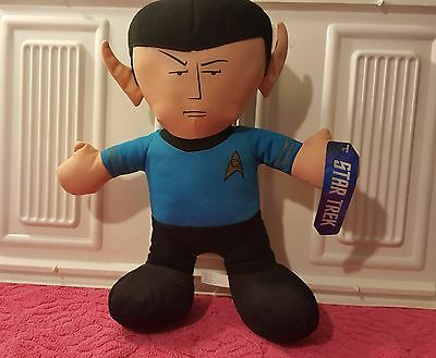 "Star Trek Mr Spock Plush Doll Toy Stuffed 14"" Leonard Nimoy  NWT     (D)"