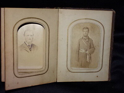 UNION ? CIVIL WAR  SOLDIER Family PHOTO Album Gifted Sword Chambersburg, Pa