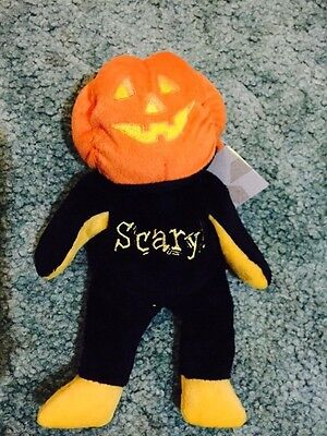 Beanie Kids + Haloween + Scary The Beanie Kid + Retired + Brand New With Tags