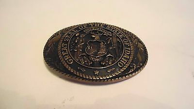 Used Vintage Brass State Series Collection Idaho Tony Lama Belt Buckle