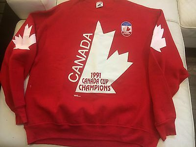 Team Canada Hockey Canada Cup 1991 Jersey Hat Sweater T Shirt New No Tags Xl
