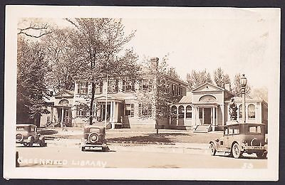 Circa 1930 Real Photo RPPC Postcard Library GREENFIELD Massachusetts  U.S.